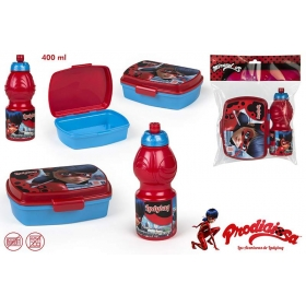 Miraculous Ladybug lunch box + bottle 400 ml set
