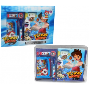 Yo-Kai Watch wristwatch, wallet and diary with pen