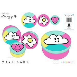 Studio Note Girl Gang Storage Pots