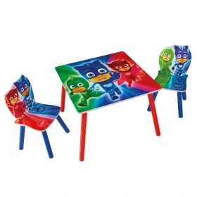 PJ Masks table with 2 chairs
