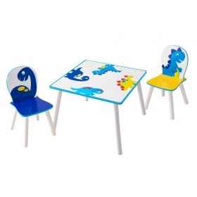 Dinosaurs table with 2 chairs