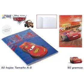 Cars A5 stapled notebook 50sh 60g