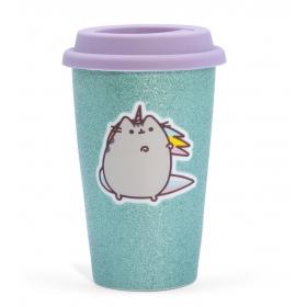 Pusheen ceramic travel mug – unicorn