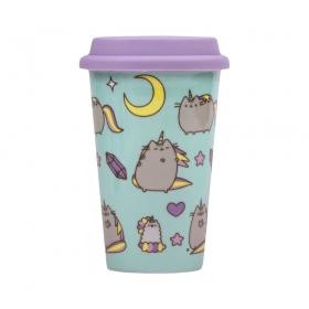 Pusheen ceramic travel mug – pattern