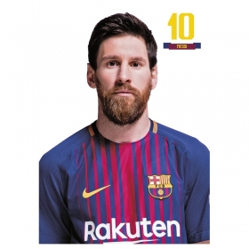 FC Barcelona Messi postcard