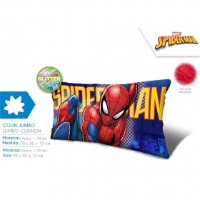 Spiderman velour cushion