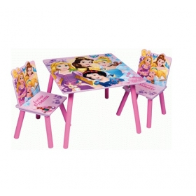 Princess wooden table and chairs set
