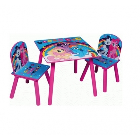My Little Pony wooden table and chairs set