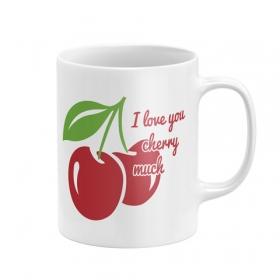 Zaska Cherry ceramic mug in box