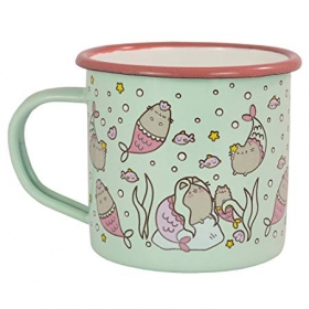 Pusheen enamel mug mermaid
