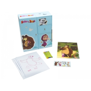 Masha and Bear art set with regal