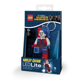 Lego Batman Movie Harley Quinn keychain with LED torch