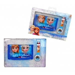 Frozen wrist watch and wallet gift set