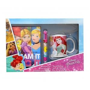 Princess porcelain mug, multicolor pen and diary gift set