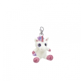 Unicorn plush keyring 10 cm