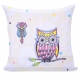 Owls pillow case 80x80 cm
