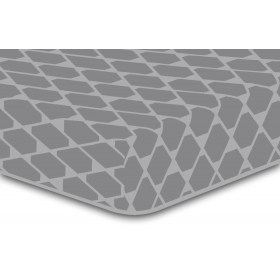DecoKing Hypnosis Rhombuses microfibre fitted sheet 220x240 cm