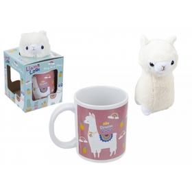 Plush Alpaca Hug In A Mug Printed Gift Box
