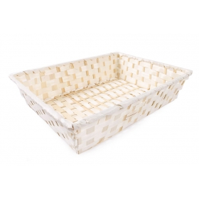 Tin Tours Rectangular bamboo basket 38x28x8h cm