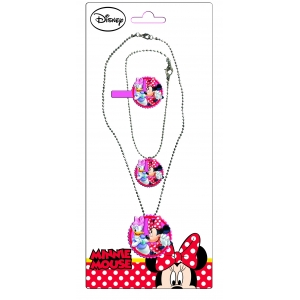 Minnie Mouse jewelry set