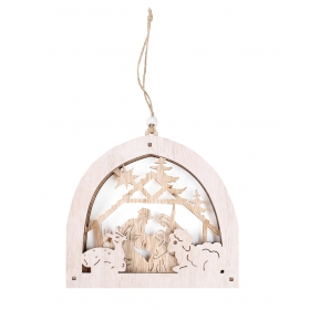 Christmas crib pendant 17x15.5 / 26 cm