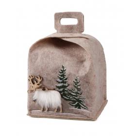 Christmas felt bag 16x16x20 / 24 cm
