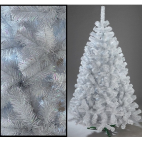 White artificial Christmas fir tree 150 cm