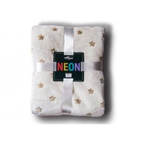 Neon blanket cream stars + gold / 200x220