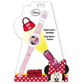 Digital watch + flashlight Minnie Mouse