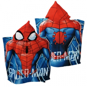 Spiderman fast dry poncho towel
