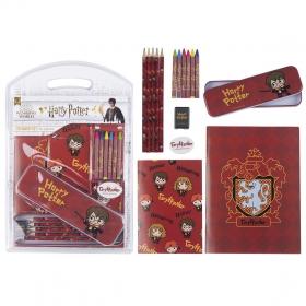 Stationery set school Harry Potter Gryffindor